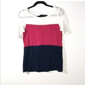 The Limited XS Colorblock Tee Short Sleeve Shirt